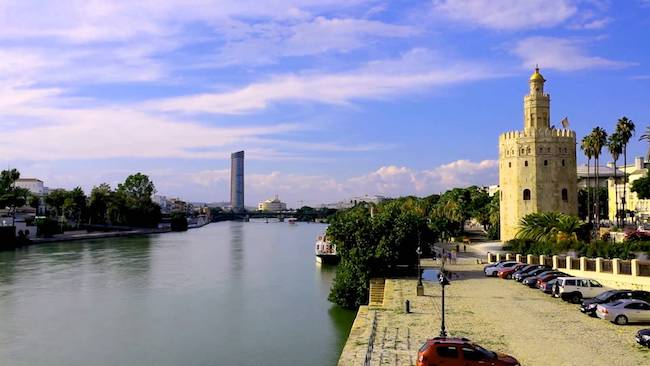 Riverside Walk Seville, seville spain points of interest